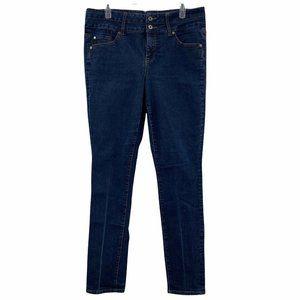 Torrid 16 Tall Skinny Jeans Stretch Dark Wash Denim Plus Size Blue Mid Rise